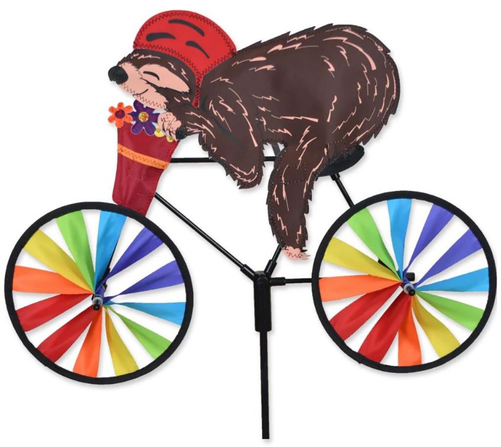 Sloth on Bicycle Yard Spinner