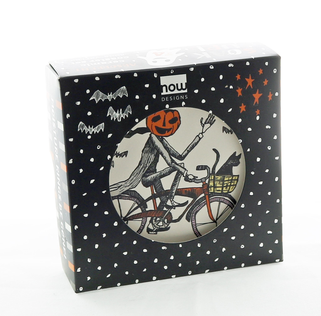 Spooky Bicycle Coaster Boxed Set of Four