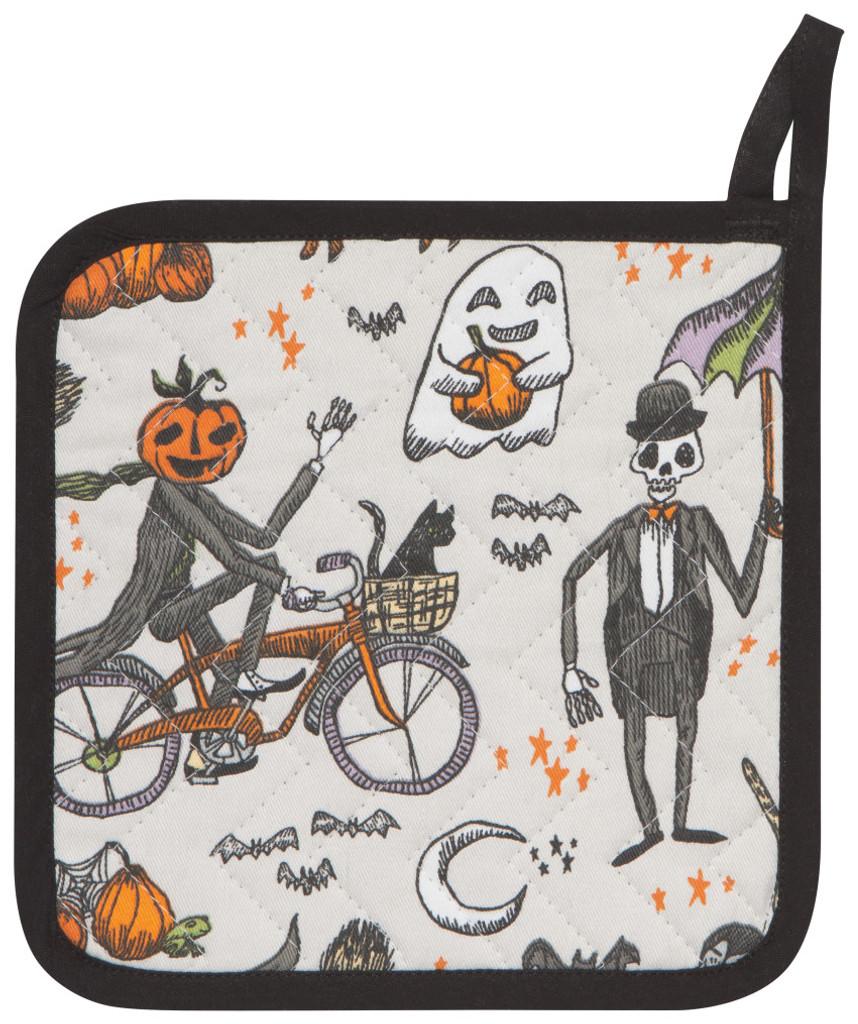 Halloween Spooky Bicycle Oven Mitt Set