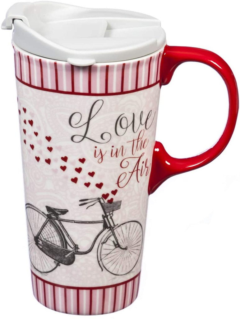 Love is in the Air Bicycle Travel Mug
