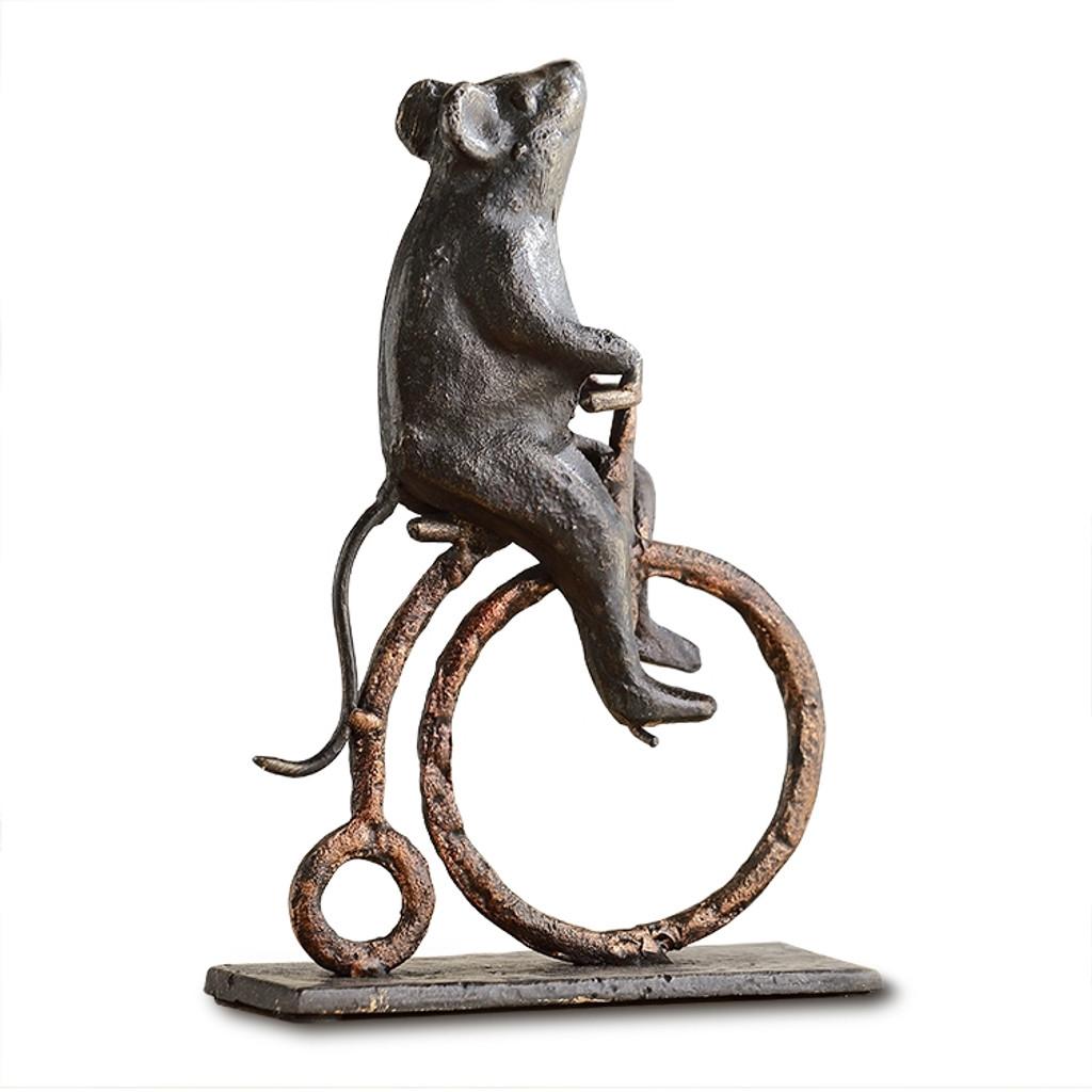 Mouse on High Wheel Bike Desk Decor