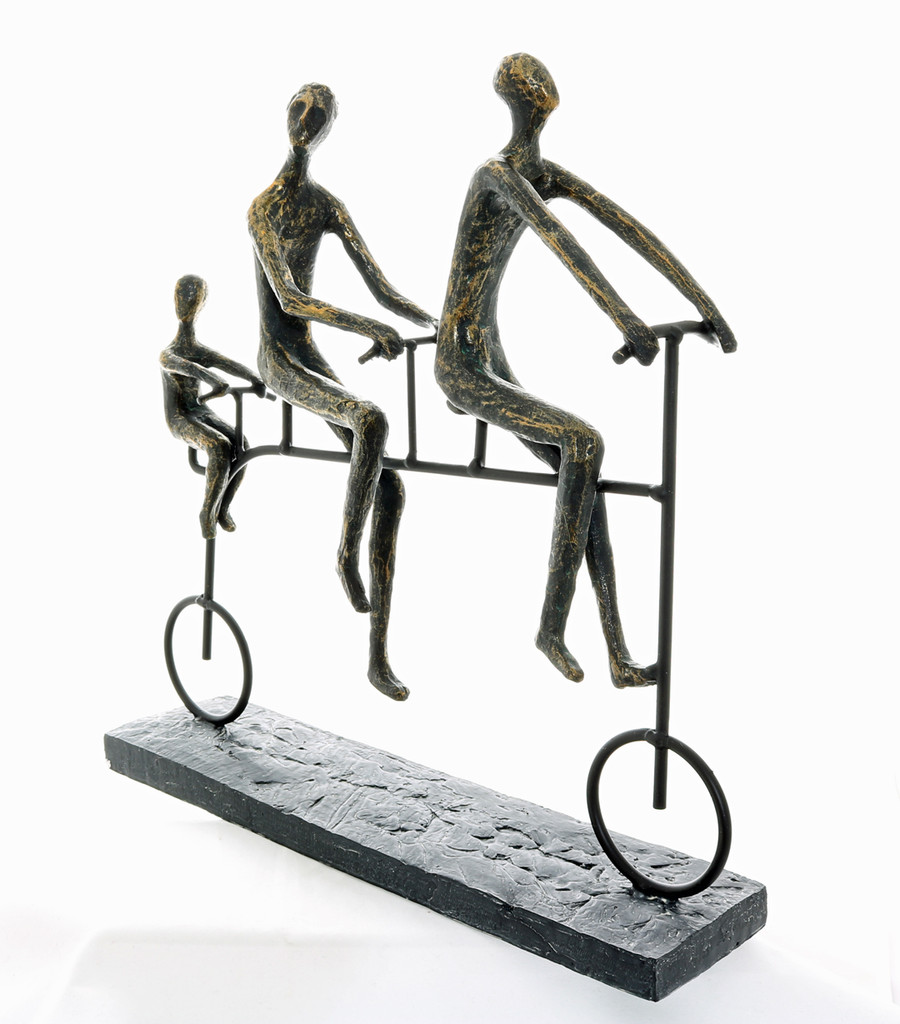 Family Bike Ride Sculpture