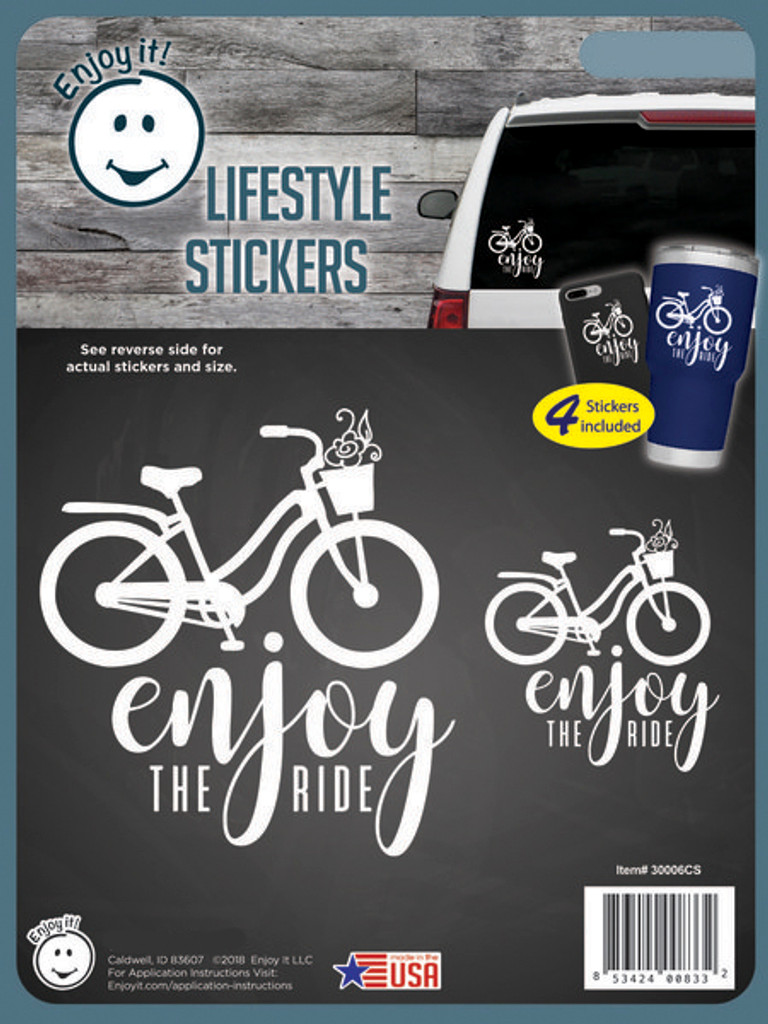 Enjoy the Ride Bicycle Multipurpose Stickers