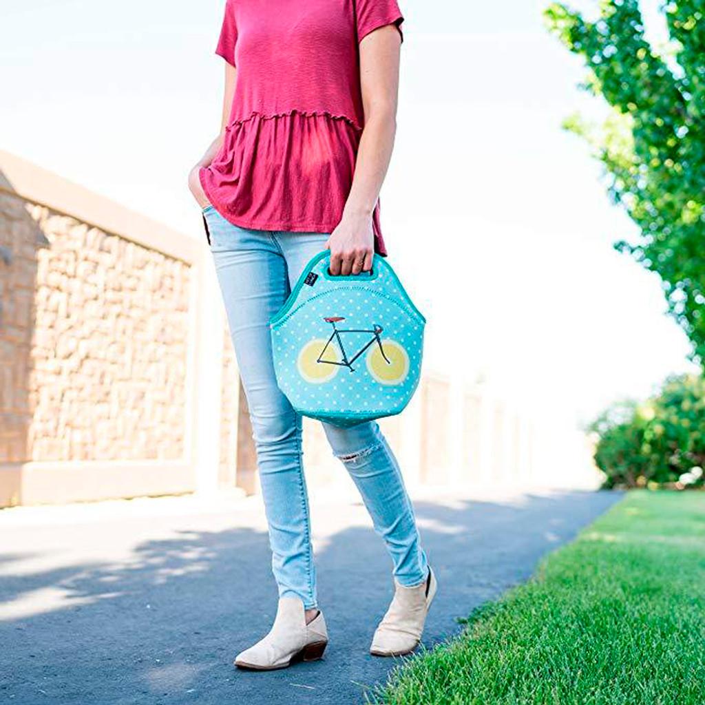 Lemon Zest Bicycle Neoprene Lunch Bag