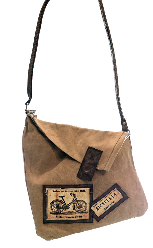 Vintage Bicycle Ad Crossbody Bag