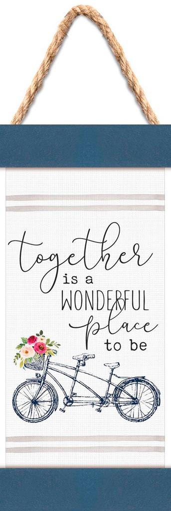 Together Is a Wonderful Place Mini Bike Banner Art