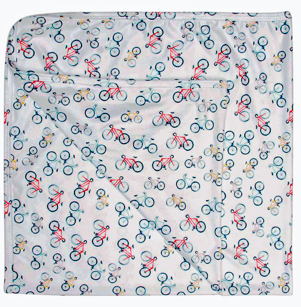 Bicycle Multi Colored Baby Blanket
