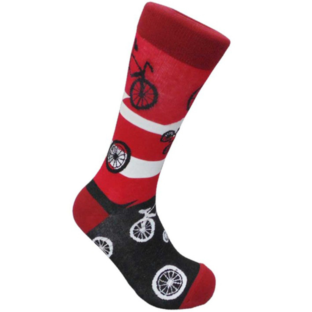 Red and Black Bicycle Socks