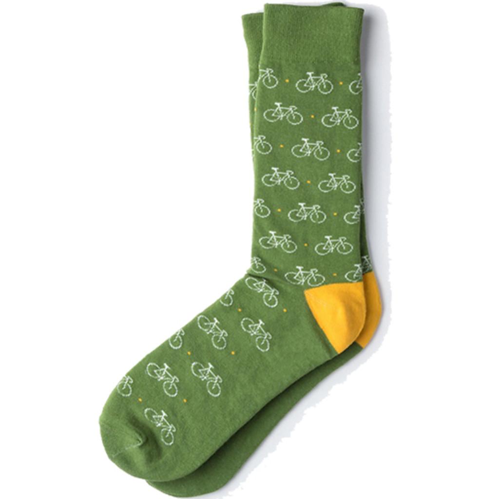 Colorful Green Dress Socks