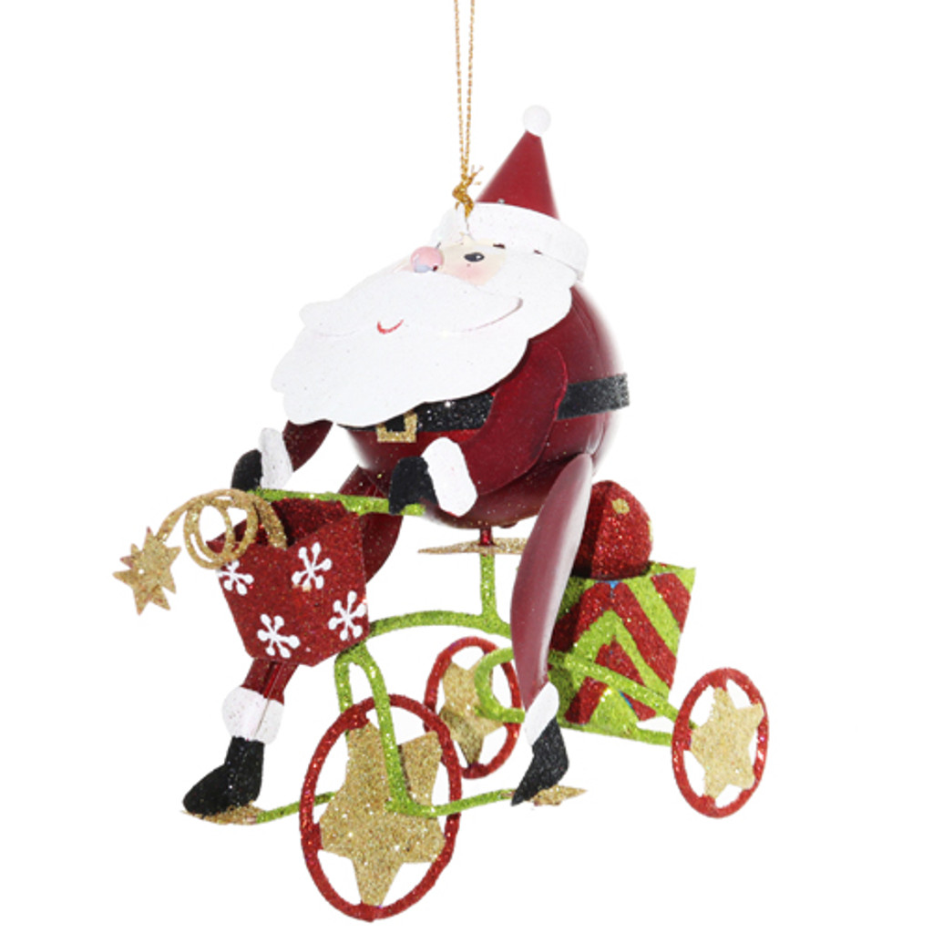 Jolly Cycling Santa