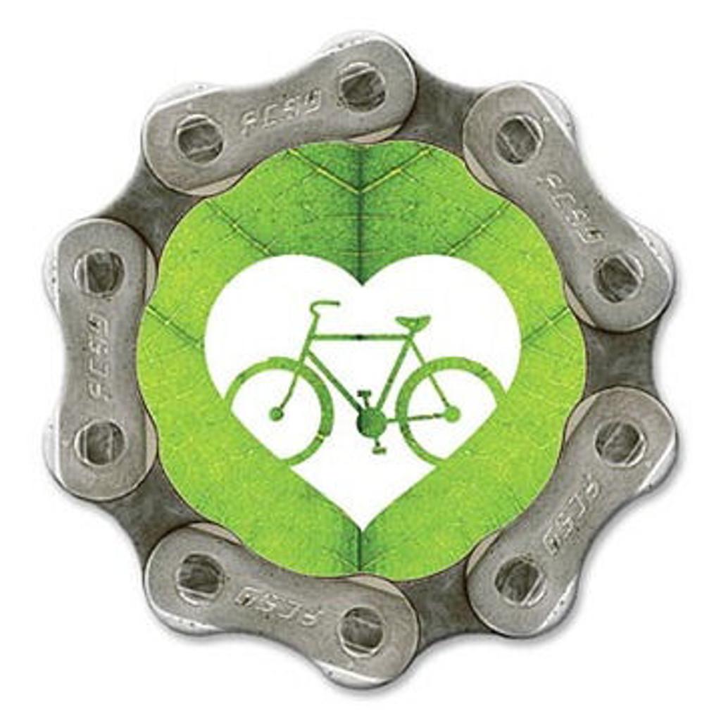 Bike Love Leaf Magnet