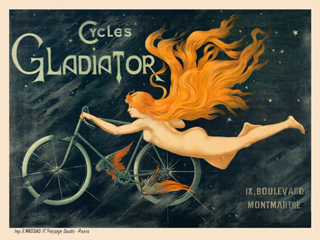 Cycles Gladiator Vintage French Bicycle Poster