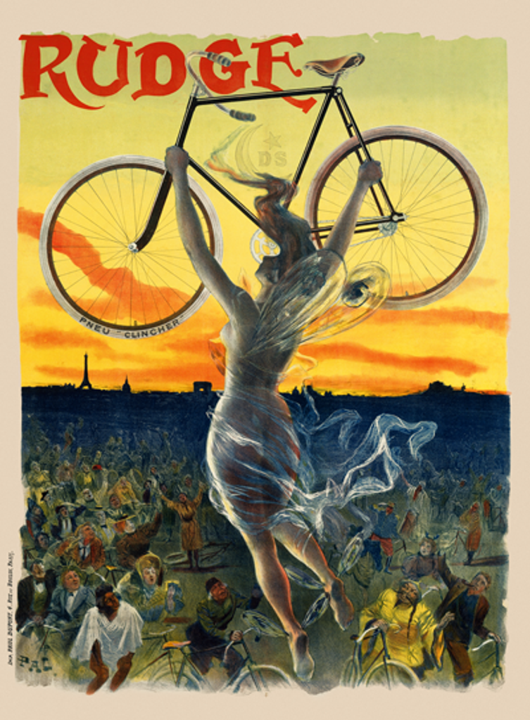Rudge Vintage French Bicycle Poster by PAL
