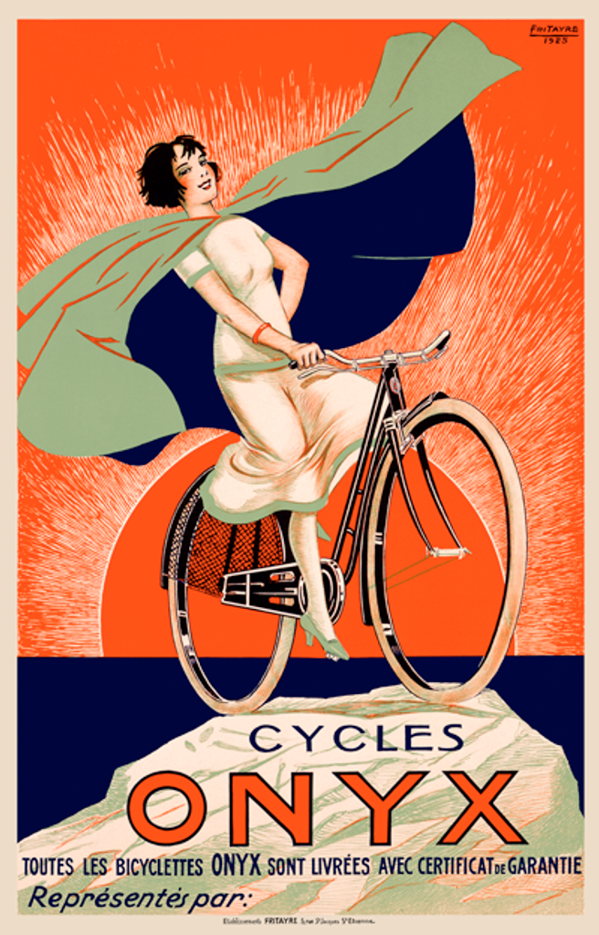 Cycles Onyx Vintage French Bicycle Poster Print by Fritayre