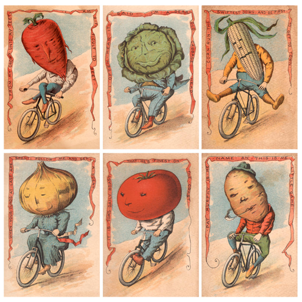 Vegetable Riders Victorian era poster prints