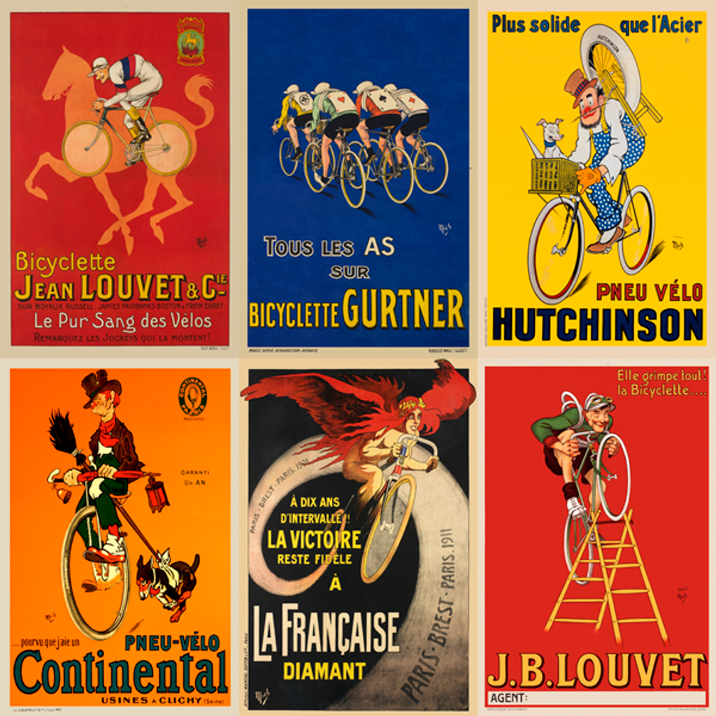 The Fun Images of MICH vintage cycling poster set