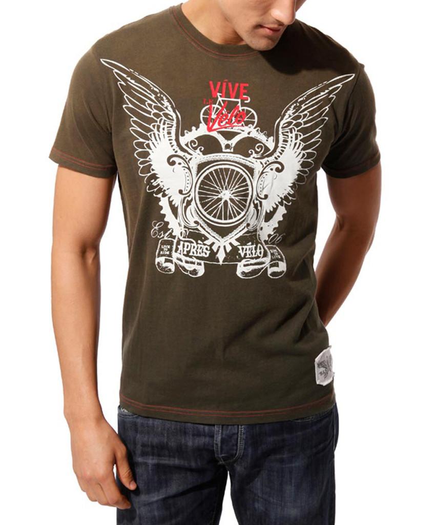 Vive Le Velo Apres Velo men's t-shirt - Front View