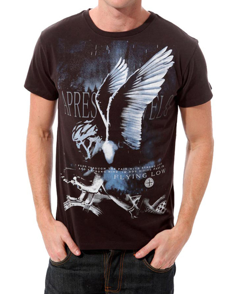 Flying Low Apres Velo men's t-shirt - Front View