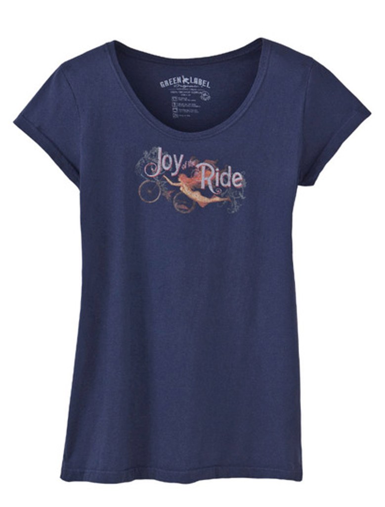 Joy of the Ride Women's Slim Scoop T-shirt by Green Label Organics