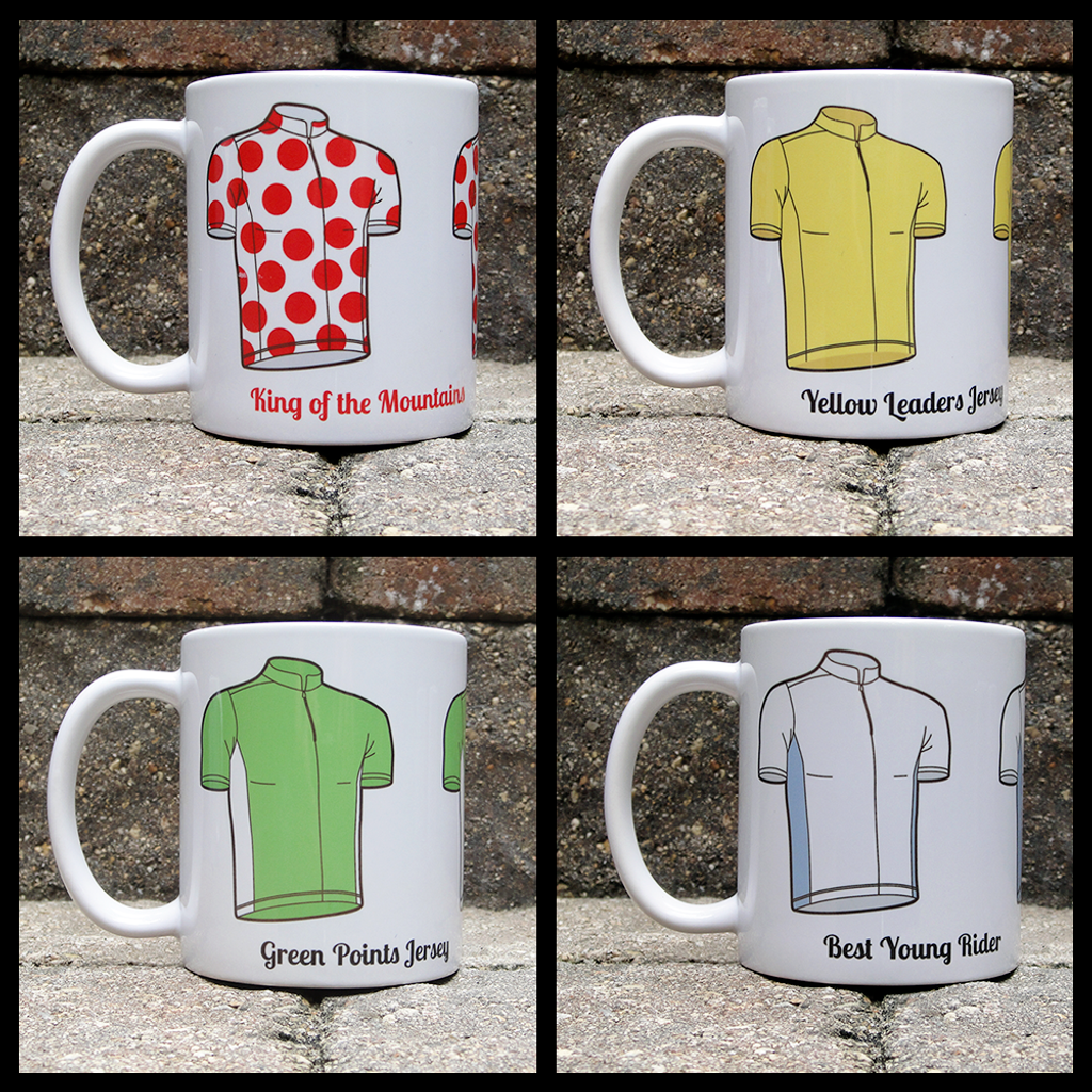 Tour de France Jersey Mugs - English