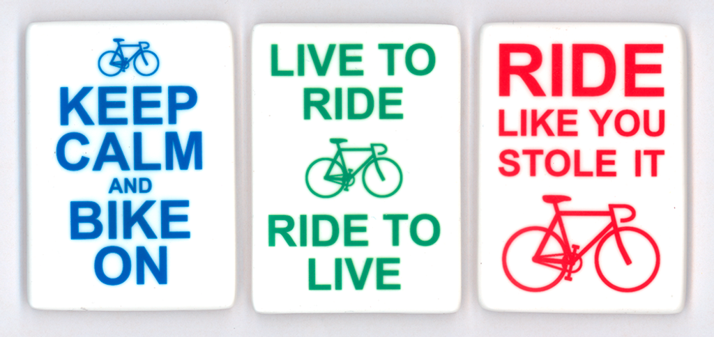 Fun Bicycle Sayings Refrigerator Magnets