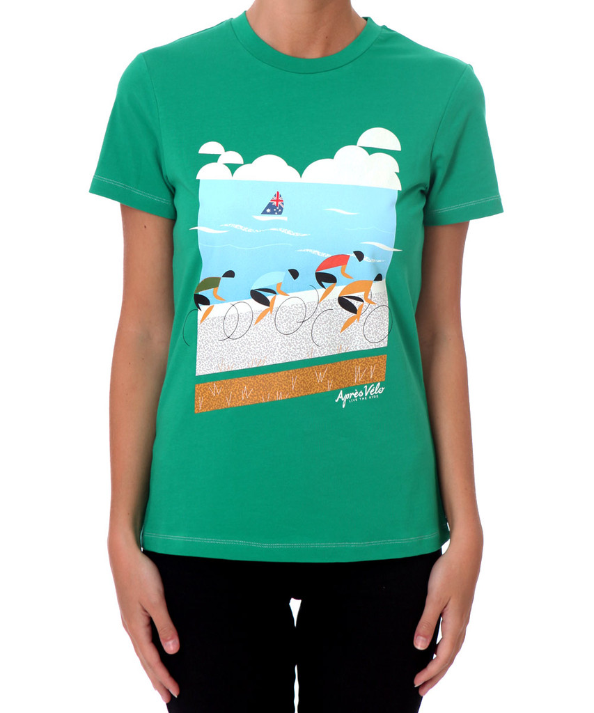 Victor Harbor Apres Velo Women's T-shirt - Front