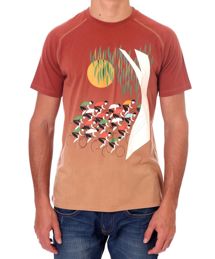 Eucalyptus Landscape Apres Velo Men's T-shirt