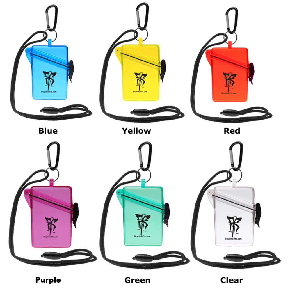 Six colors of BicycleGifts Cyclists wallets
