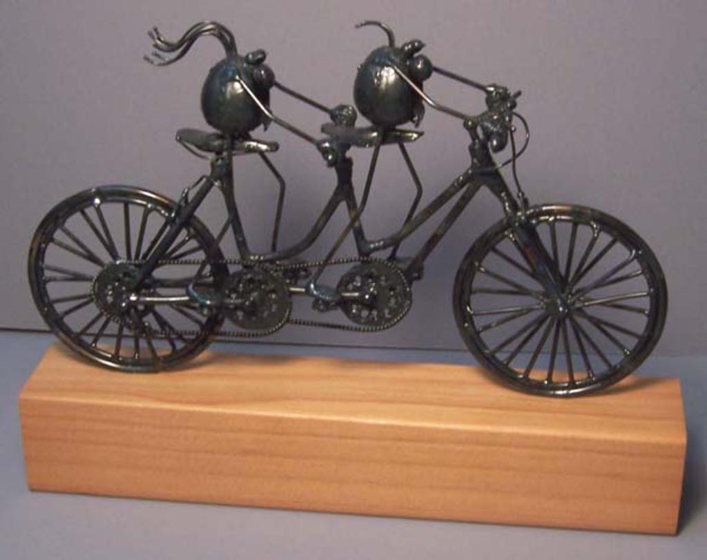 Original Flea Tandem Bike Sculpture