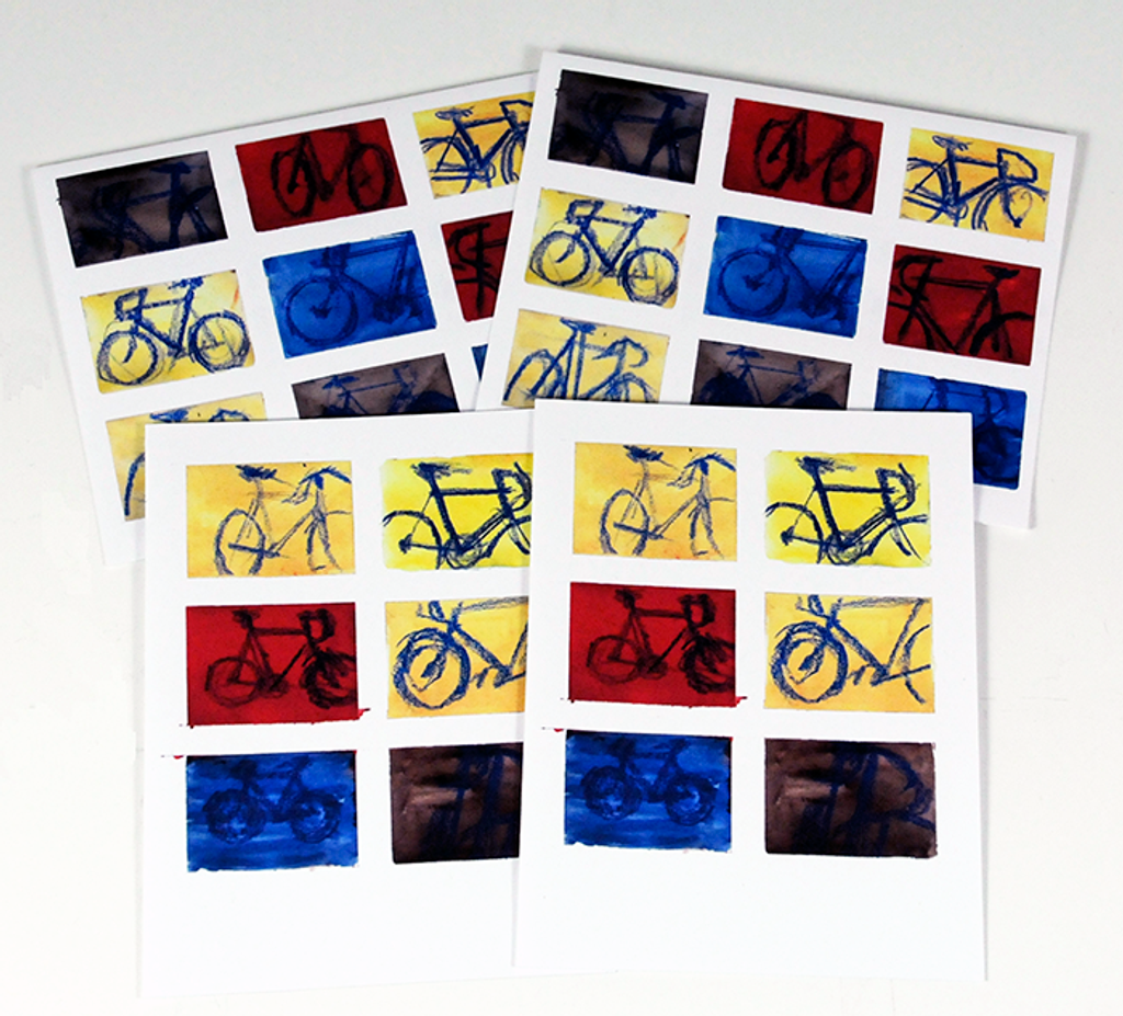 Color Charts Bike Note Cards by Taliah Lempert