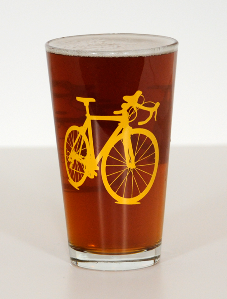 Road Bike Pint Beer Glasses