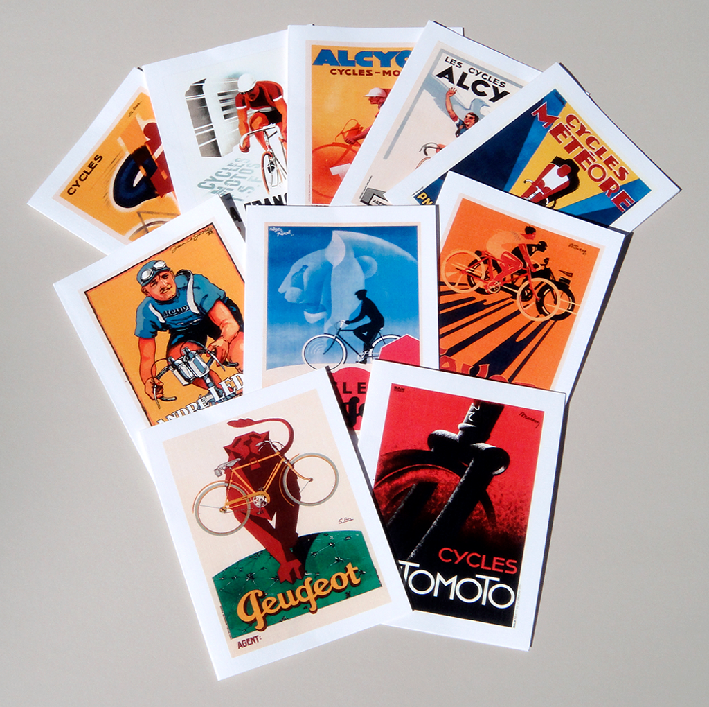 Art Deco Bicycle Note Cards