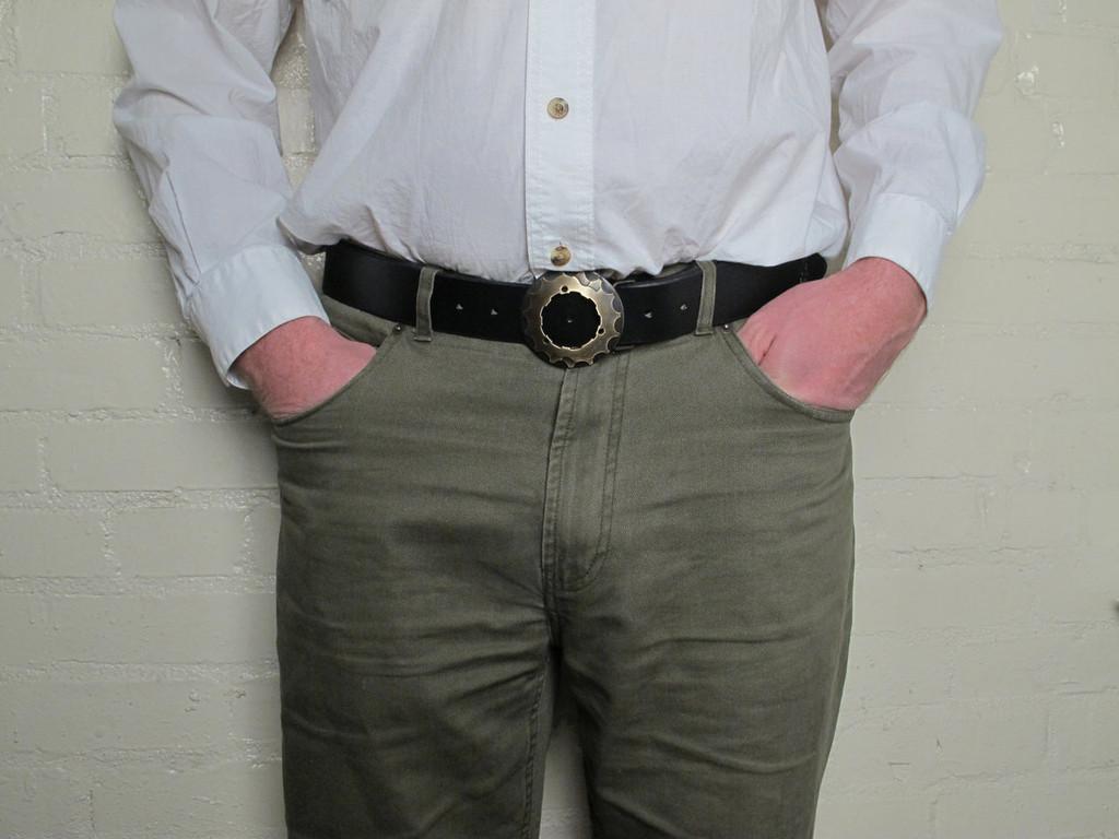 Brass Cog Belt Buckle - Buckle Only
