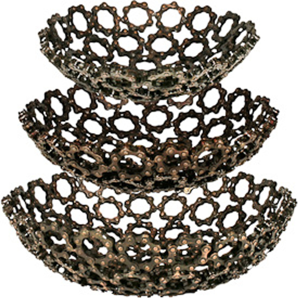 Decorative Chain Bowl in Three Sizes