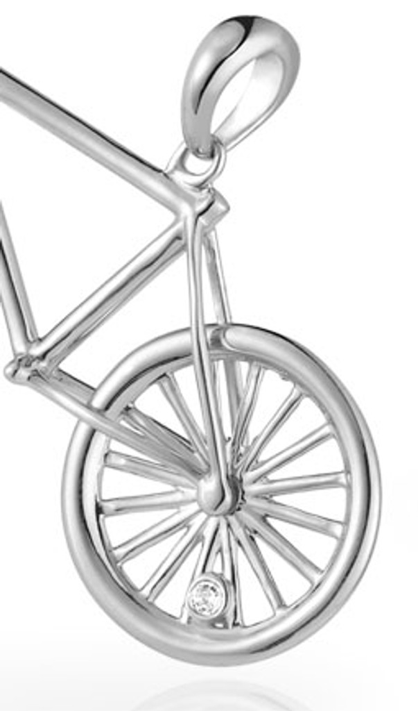 Racing Bicycle Pendant Necklace by Vinqui