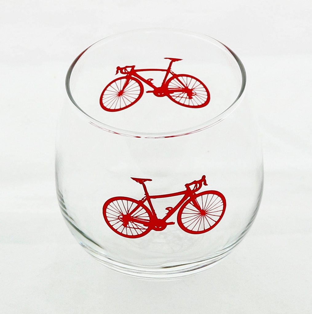Road Bike Red Wine Glass Set of Four Colors