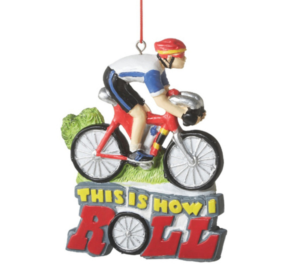 How I Roll Bicycle Ornament