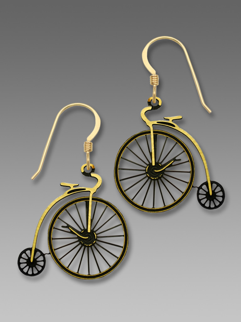 High Wheel Bicycle Earrings