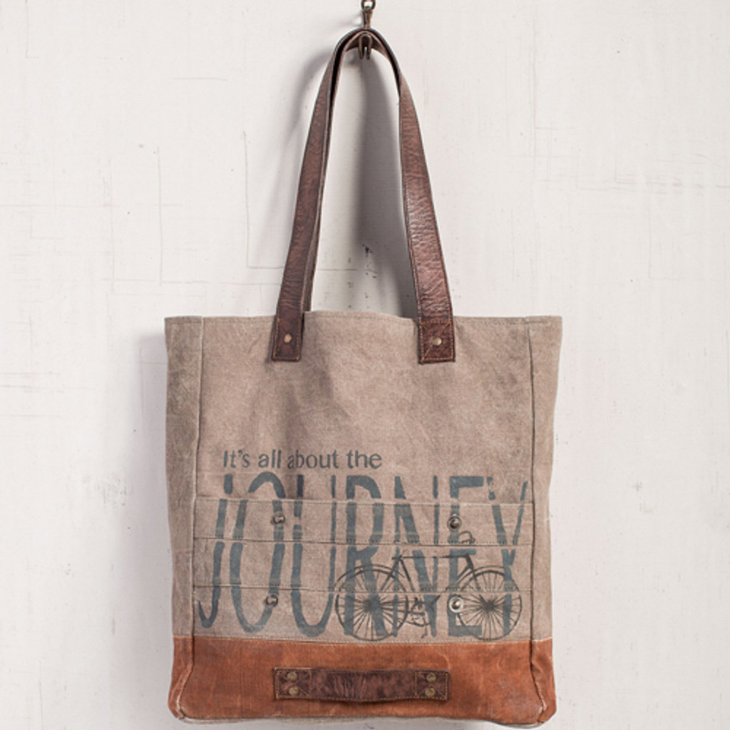 All About the Journey Canvas Tote
