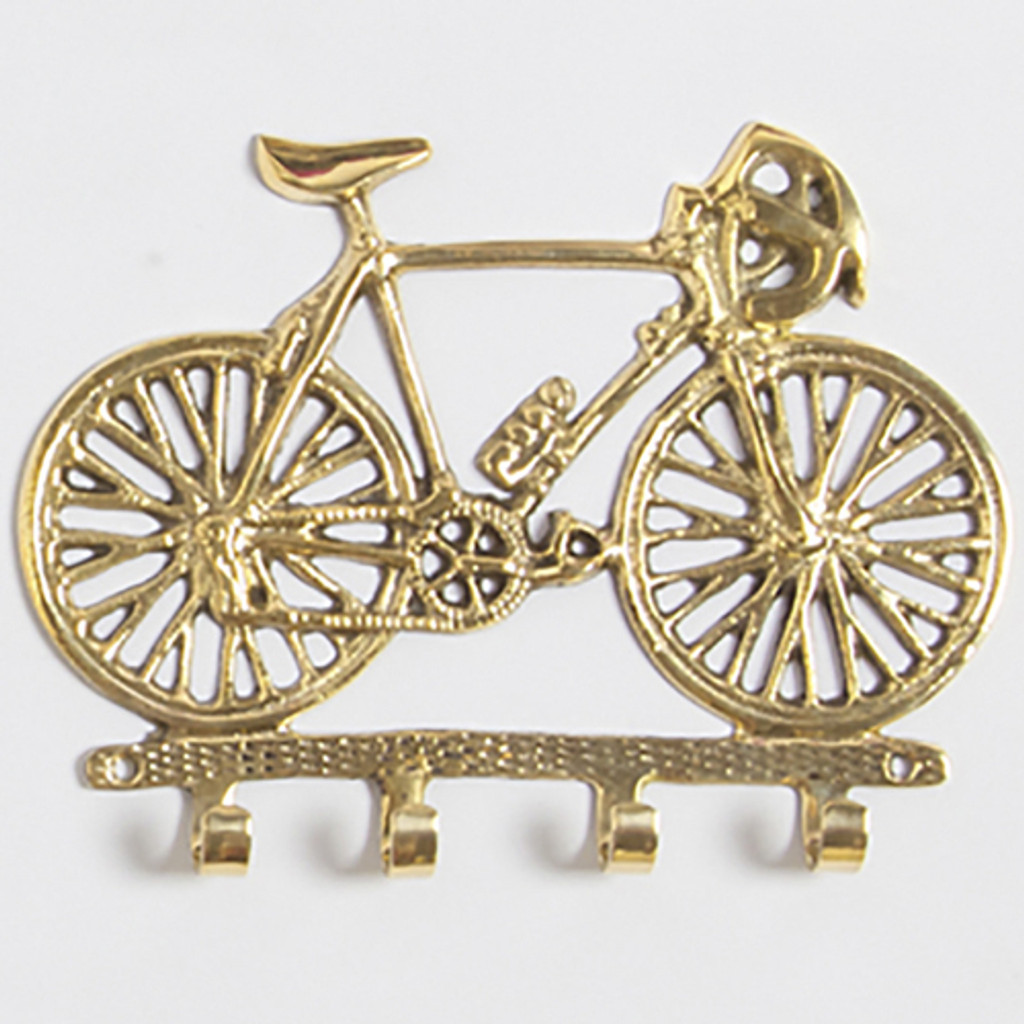 Gold Bicycle Wall Hooks