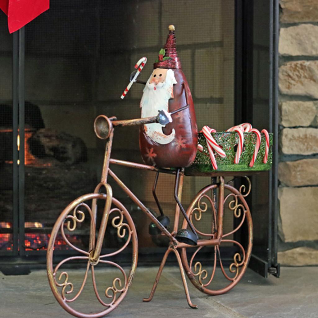 Decorative Santa on Bicycle