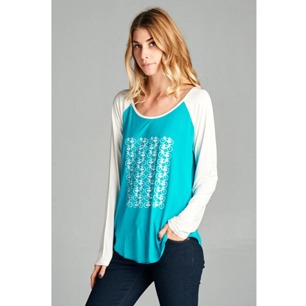 Womens Long Sleeve Bicycle Shirt
