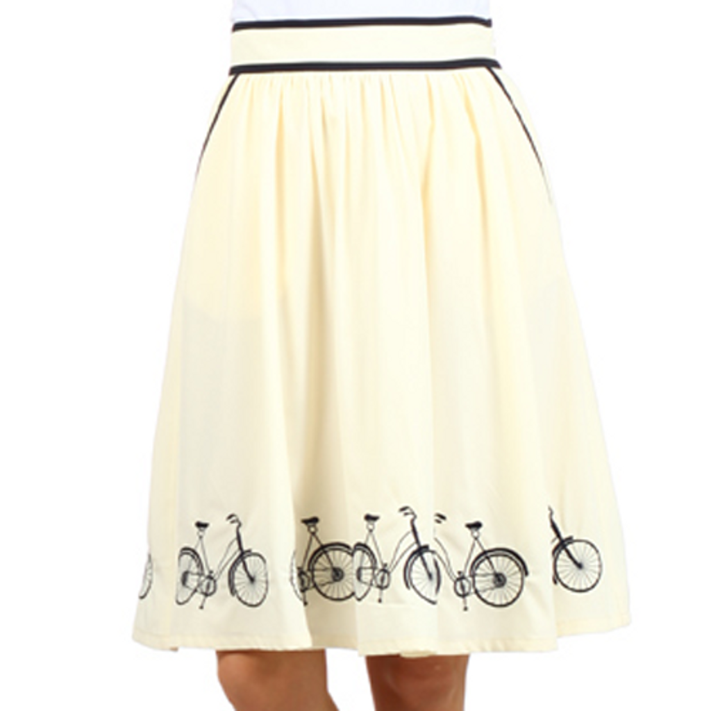 Embroidered Bicycle Skirt