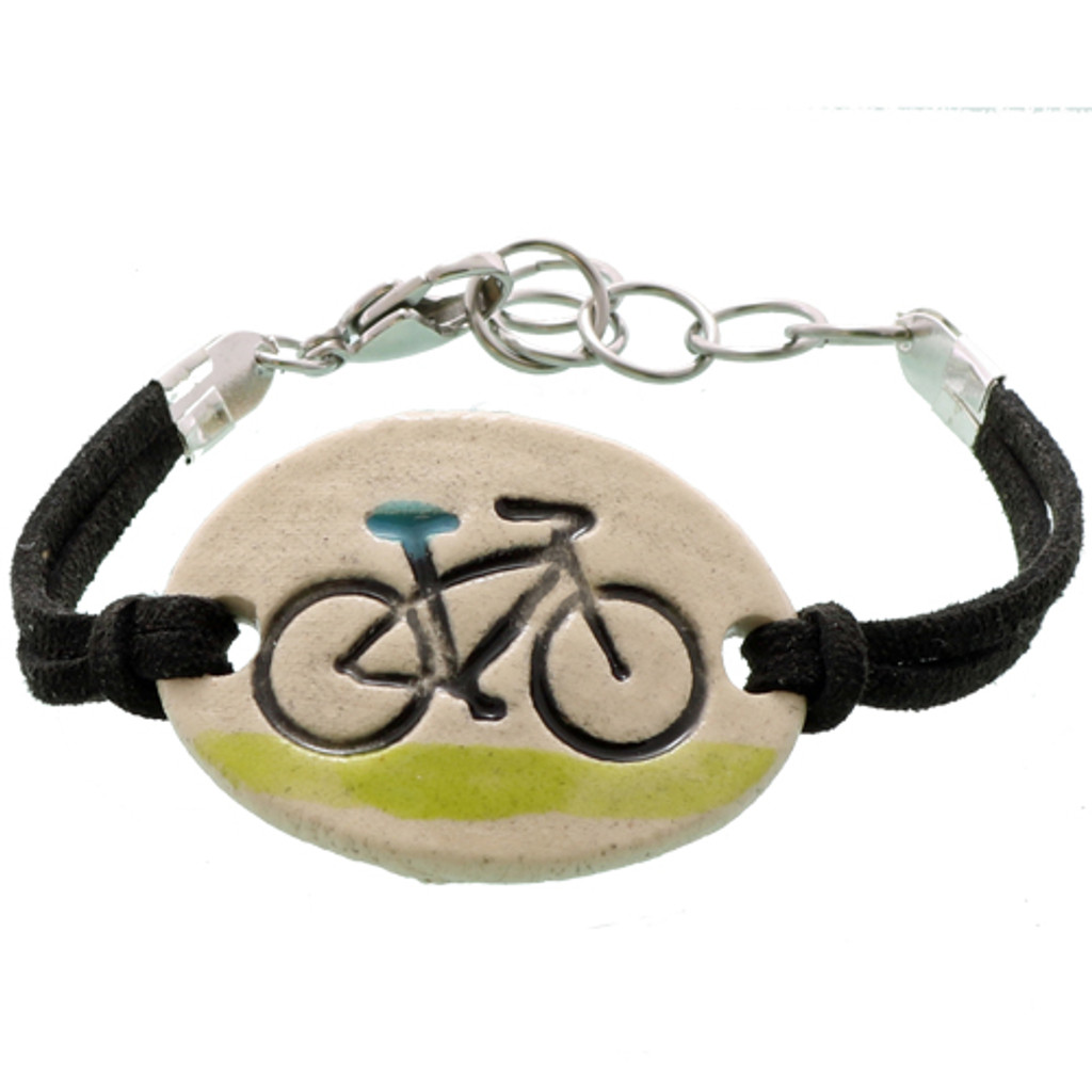 Bicycle Ride Clay Bracelet