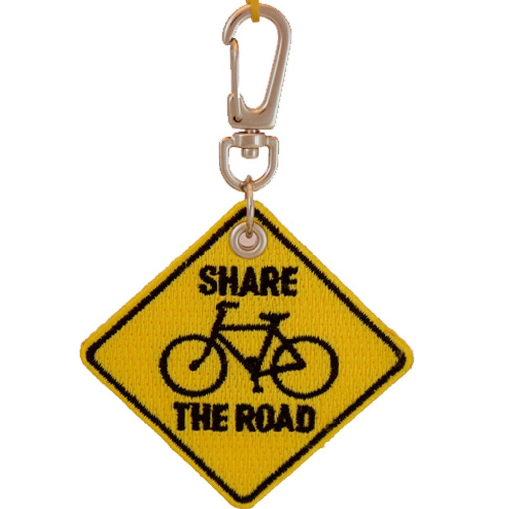 Share the Road Bike Keychain