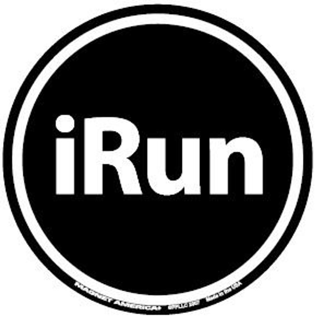 IRun Circle Magnet and Decal