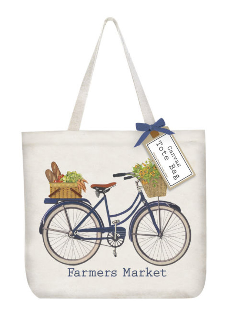 Canvas Tote Market Bike