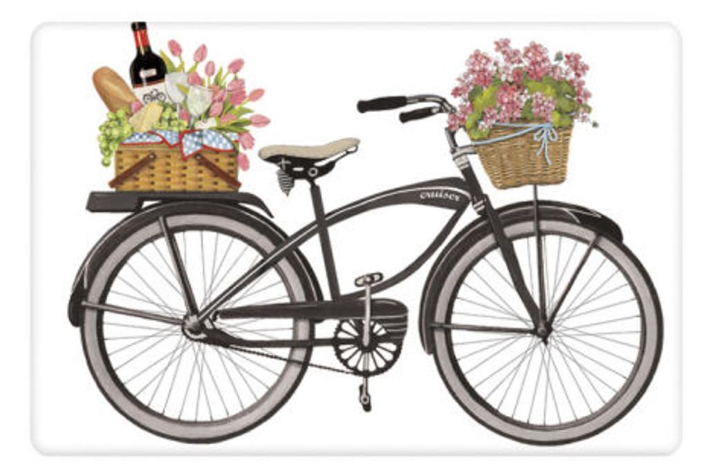 Flour Sack Kitchen Towel Picnic bike