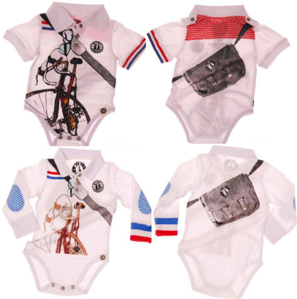 Bicycle Messenger Onsie and Polo