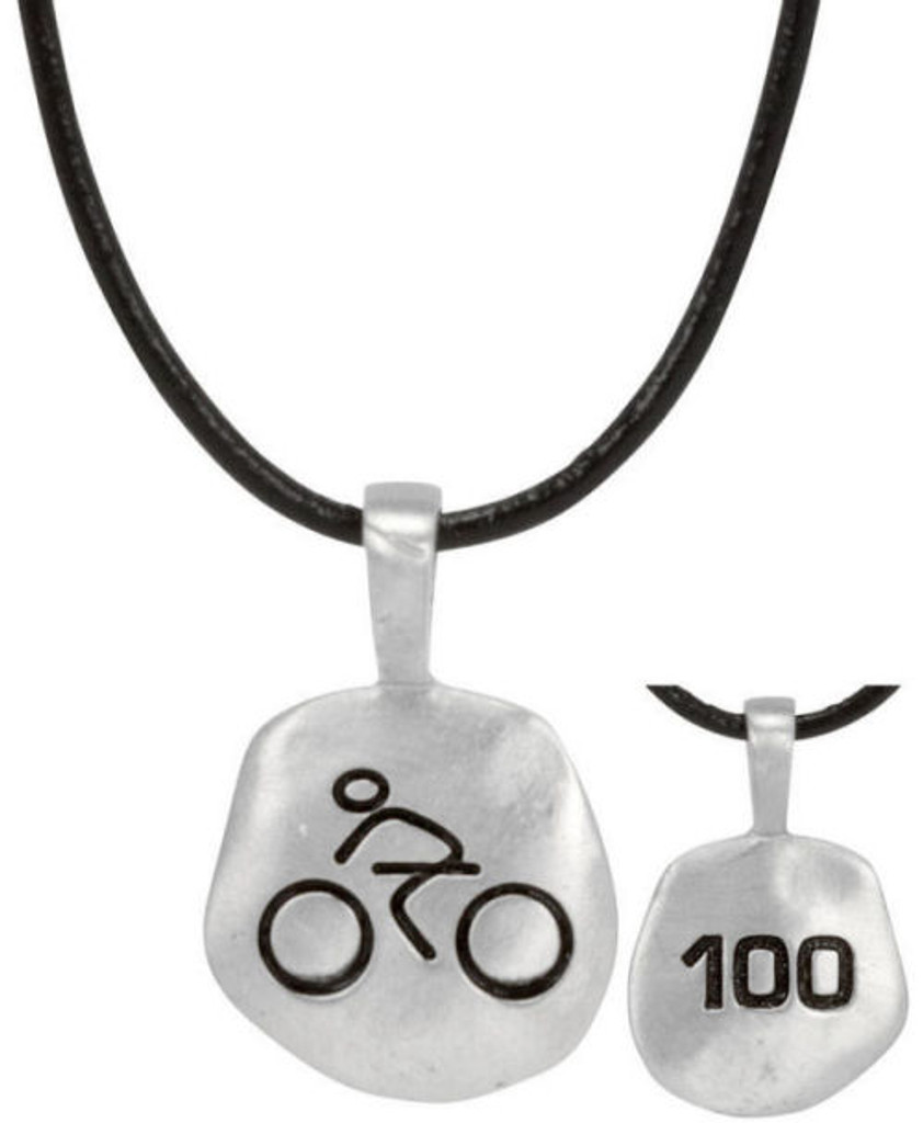 Mile Stone Cyclist Necklace